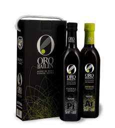Extra virgin olive oil Oro Bailen.Estuche 2 botellas 750 ml.