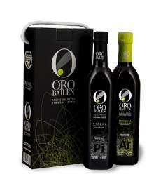 Extra virgin olive oil Oro Bailen.Estuche 2 botellas 750 ml.
