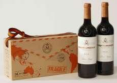 Red wine 2 Marqués de Murrieta  en caja de cartón