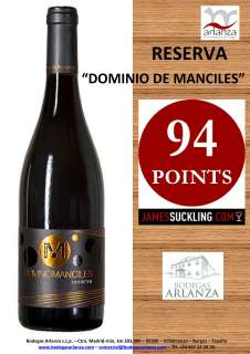 Red wine Dominio de Manciles, Reserva