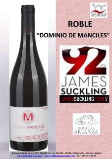 Red wine Dominio de Manciles, Roble
