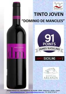 Red wine Dominio de Manciles, Tinto Joven