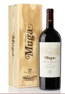 Red wine Muga  Selección Especial Magnum en caja de madera